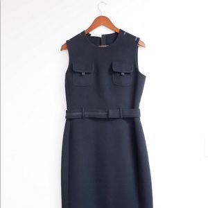 100% AUTHENTIC CLASSIC PRADA WOOL DRESS SIZE 44